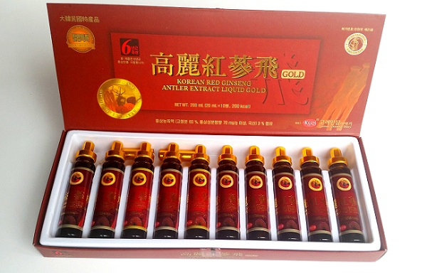 KOREAN RED GINSENG EXTRACT Tonic 10 ampoules 20ml